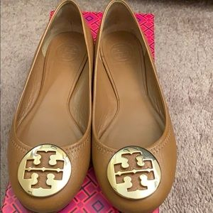 Tory Burch Reva Ballet Tumbled Leather size 6